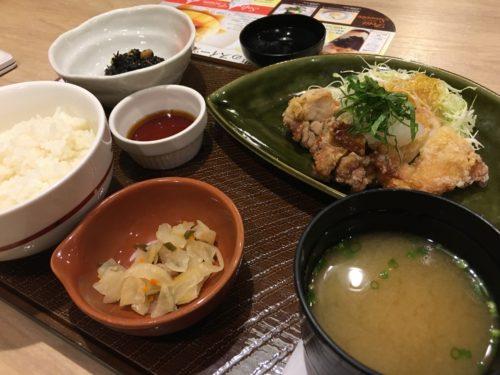 『若鳥の竜田揚げ和膳 おろしポン酢』
