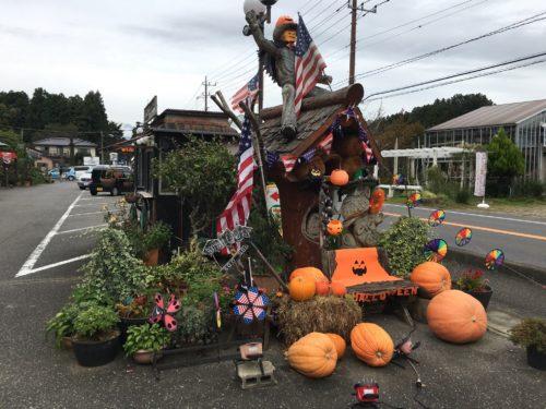 入口近くにあるかぼちゃのオブジェ!